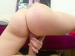Voluptuous Courtney Cummz wraps her pussy lips around a big rod in POV