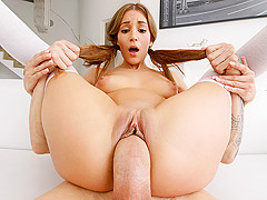 Moka Mora in Pigtail Facial - Tiny4K