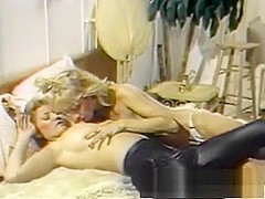 Two lustful housewives devour each other's cunts and share a hard dick