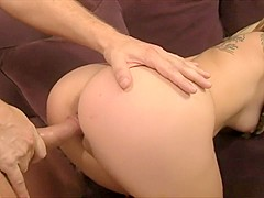 Horny Roxy Jezel blows him and gets her cunny royally fucked