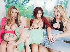 Farrah Dahl & Ryder Skye & & Laura Bently in The More BadMILFs the Better - BadMilfs