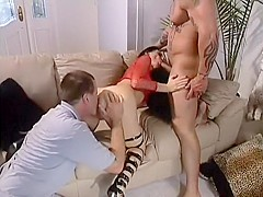 German whore gets double penetrated by these two old friends
