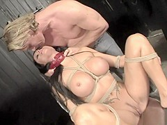 Busty bimbo Cony loves to be dominated and tied up really well