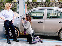 Samia Duarte & Angelica Castro in Begging the police woman - Leche69