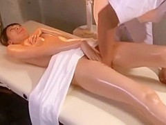 Crazy Japanese model Miharu Izawa in Hottest Massage, Couple JAV scene