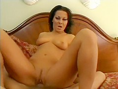 Sandra Romain sucking on your cock and getting butt-fucked in a POV movie