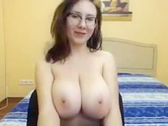 Beautiful girl with big firm tits
