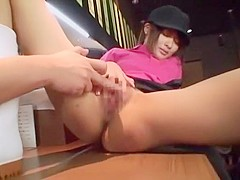 Exotic Japanese girl Yuki Natsume in Fabulous Bar, Threesomes JAV scene