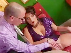 Mommy big saggy tits fucks  junior nerd