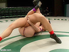 Rookie Has Her Ass Kicked, Pussy Fingered On The Mat, Humiliating Defeat. Fucked Like A Common Whore
