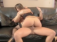 Veronica Lynn has a hung guy pounding her fiery cunt in every position