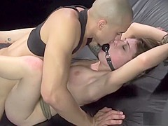Striking girl with a splendid ass Faye gets pumped full of hard cock