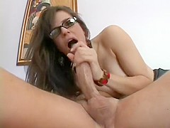 Insatiable brunette Bobbi sticks a hard dick in her ass and fucks it with fervor