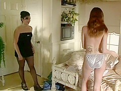 Amazing ginger-head beauty is tongue-fucking her lovely mistress