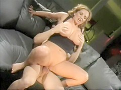 Stacked milf seduces a young stud and fervorously fucks his hard prick
