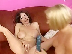Three horny cougars taste each other's pussies and play with sex toys