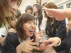Incredible Japanese chick in Best Group Sex, Cunnilingus JAV video