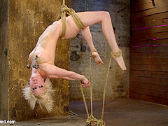 Hot Blond Suffers Though A Brutal Category 5 Inverted Suspension.How Many Orgasms Can She Take?  - H