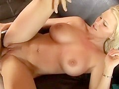 Gorgeous young blonde with amazing tits gets fucked by a horny old guy