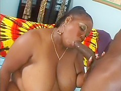Chubby ebony lady Sabrina Love needs a huge black rod banging her cunt