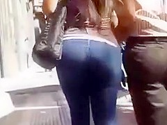 Candid amazing ass in thight jeans and high heels