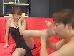 Fabulous Japanese girl Amin Kawai in Horny Foot Fetish, Cunnilingus JAV movie