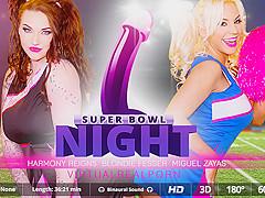 Blondie Fesser & Harmony Reigns & Miguel Zayas in Super Bowl night - VirtualRealPorn