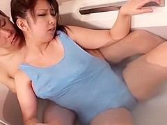 Best Japanese model in Hottest Shower, Big Tits JAV movie