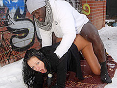 Mareen De Luxe in German Cougar enjoys BBC in the snow - MagmaFilm