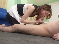 Fabulous Japanese model in Amazing Couple, Blowjob JAV movie