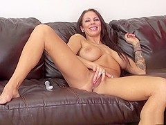 Foxy babe Lylith LaVey shows why with that hot body a'toying