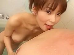 Hottest Japanese model Megu Ayase in Exotic Blowjob, Facial JAV clip