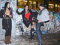 Mareen De Luxe & Tara Trash in Public German Threesome in the snow - MagmaFilm
