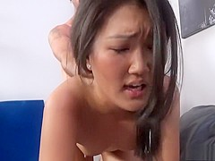 Enchanting girl Amy Parks surrenders her Oriental pussy to a hard cock