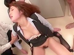 Horny Japanese slut Shiori Hazuki in Best Office, Secretary JAV scene