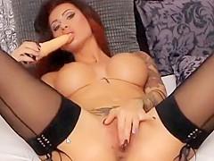 Hot busty brunette performs for me on LJ