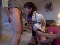 Hottest Japanese girl Azusa Nagasawa in Amazing Blowjob, Stockings JAV clip