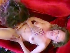 Nerdy blonde babe with glasses gets fucked with toys