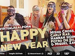 Carly Rae & Hannah Shaw & Miguel Zayas & Misha Cross & Potro de Bilbao in Happy New Year - VirtualRe