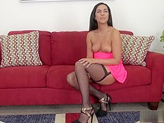 Sexy Paisley Parker peels off her clothes and takes care of her needs