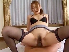 Incredible Japanese model Haruka Sasaki in Fabulous Cunnilingus, Stockings JAV video