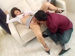 Exotic Japanese slut in Hottest Cunnilingus, Secretary JAV scene