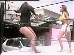 Mexican Female Barefoot Wrestling