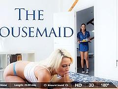 Carolina Abril & Juan Lucho & Sienna Day in The Housemaid - VirtualRealPorn