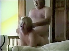 Hard face fucking and doggystyle sex for mature blonde wife