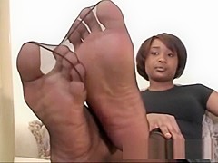 Black Girl in Ultra Sheer Pantyhose