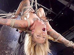 Kleio Valentien & The Pope in Stunning Tattooed Babe Made To Endure Torment In Brutal Bondage  - Hog