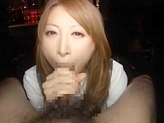 Hottest Japanese chick Leila Aisaki in Fabulous Blowjob, Couple JAV clip