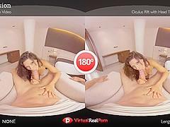 Alexa Tomas & Joel Tomas in Red Passion - VirtualRealPorn