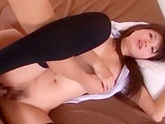 Best Japanese chick Saki Ayano in Horny Threesome, Close-up JAV movie